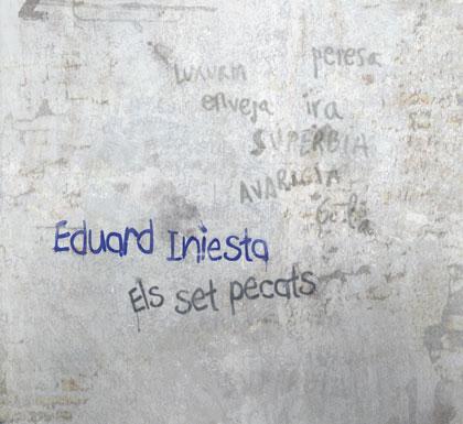 Portada del CD «Els set pecats» de Eduard Iniesta.