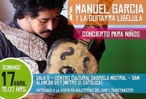 Afiche del concierto «Solo para niños» de Manuel García.