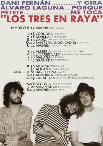 """Cartel de «Los Tres en Raya» evocando a """"La mandrágora»."""