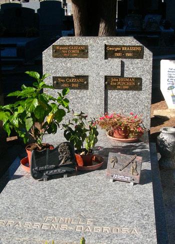 Tumba de Georges Brassens en el cementerio nuevo de Sète.