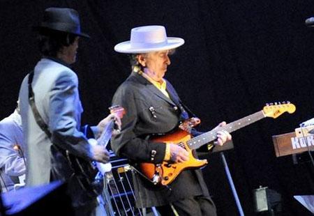 Bob Dylan en el Gimnasio de los Trabajadores de Pekín.