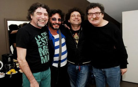 Joaquín Sabina, Fito Paéz, Andrés Calamaro y Charly García.