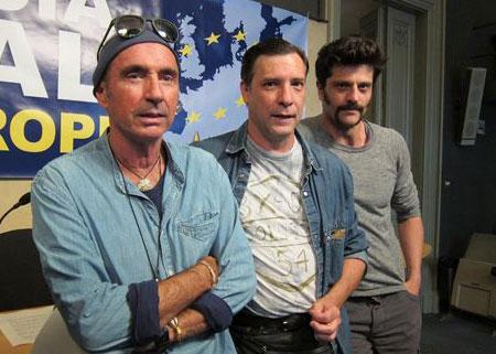 Lluís Llach, Àlex Casanovas y Joel Joan. © EP