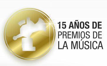 Logo de la XV Edición de los Premios de la Música.