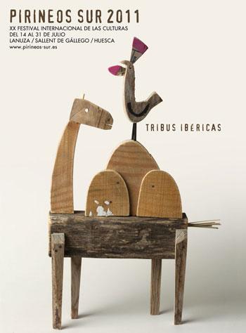 Cartel del XX Festival Internacional de las Culturas Pirineos Sur 2011.