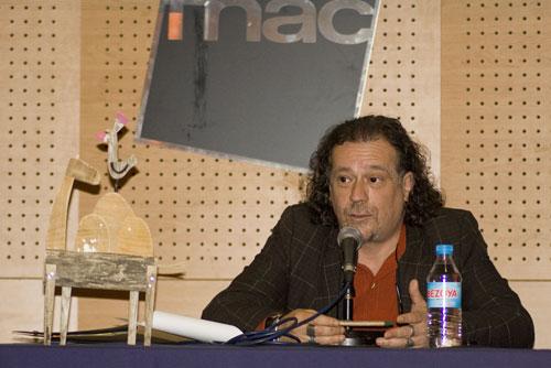 El director del Festival Pirineos Sur 2011, Luis Calvo en la presentación que tuvo lugar ayer en Barcelona. © Xavier Pintanel