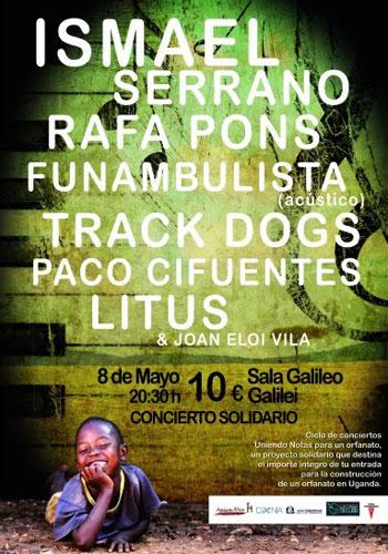 Cartel del concierto solidario para la construcción de un orfanato en Uganda.