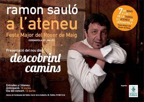Cartel del concierto de presentación del CD «Descobrint camins» de Ramon Sauló