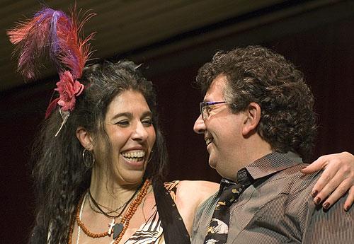 Rossana Taddei con el percusionista Gustavo Etchenique. © Xavier Pintanel
