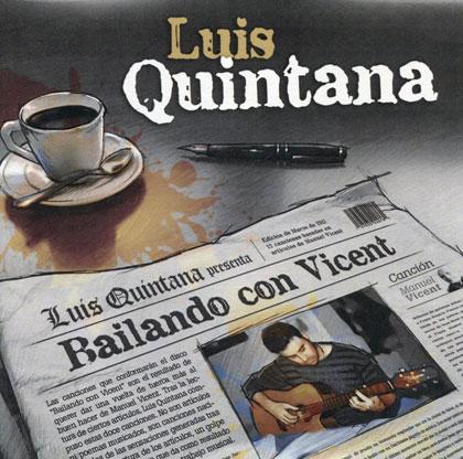 Portada del CD «Bailando con Vincent» de Luis Quintana.