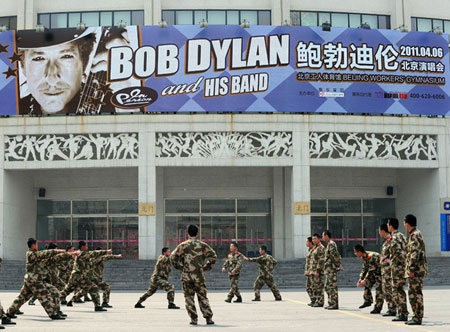 Bob Dylan en la China © Frederic J. Brown/AFP/Getty Images