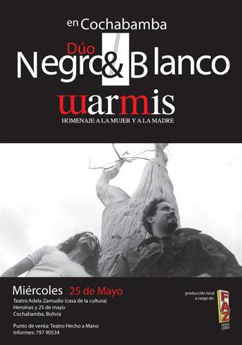 Cartel del concierto «Warmis - Homenaje a las madres».