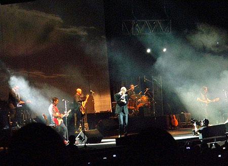 Abel Pintos en el Luna Park de Buenos Aires. © FLOR BE/Mosqoy Prensa