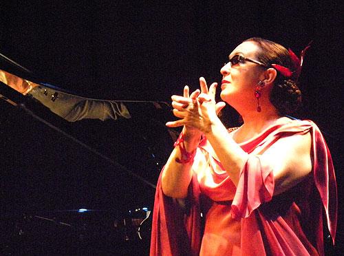 Martirio, acompañada al piano por José María Vitier en l'Auditori de Barcelona el pasado 20 de mayo. © Federico Francesch