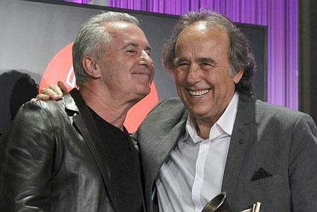 Víctor Manuel y Joan Manuel Serrat.