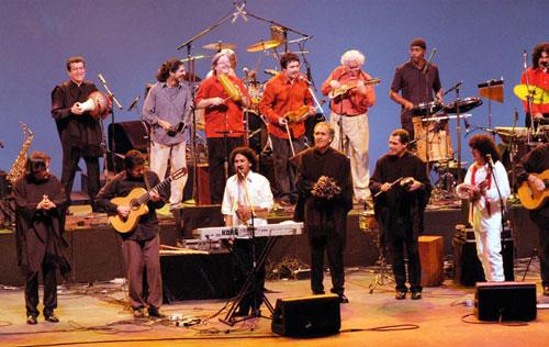 Inti-Illimani, Quilapayún e Illapu en el concierto de México de 2003, el último antes de las primeras escisiones.