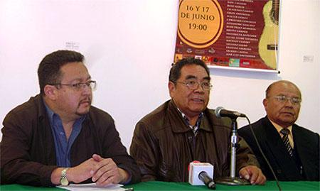 Conferencia de prensa de presentación del Festival «Bolivia en charango».