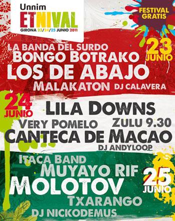 Cartel del Festival Etnival de Girona 2011