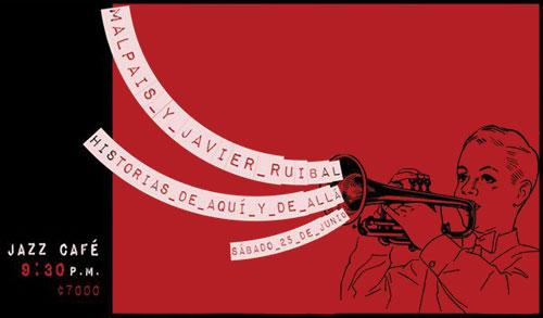 Cartel del concierto «Historias de aquí y de allá» de Malpaís y Javier Ruibal.