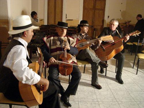 De izquierda a derecha, Fidel Améstica, Santos Rubio, Erick Gil Cornejo y Juan Pérez Ibarra.