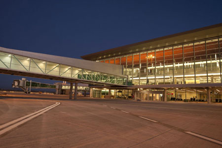 La terminal «Mercedes Sosa» del Aeropuerto Internacional de Ezeiza.