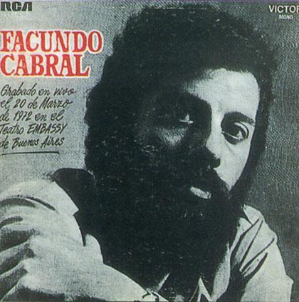 Facundo Cabral. LP grabado en vivo en el teatro Embassy de Buenos Aires. 1972.