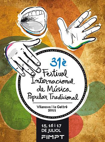 Cartel del 31º Festival Internacional de Música Popular Tradicional, FIMPT.
