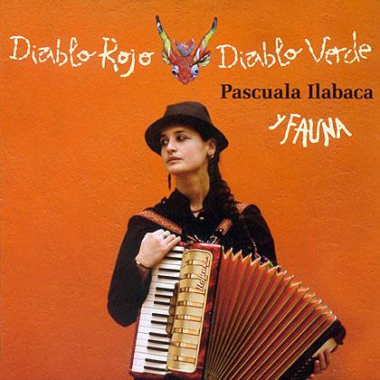 Portada de disco «Diablo Rojo, Diablo Verde» de Pascuala Ilabaca.