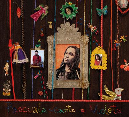 Portada de disco «Pascuala canta a Violeta» de Pascuala Ilabaca.