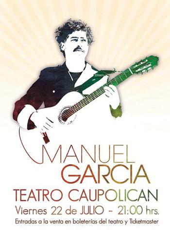 Cartel del concierto de Manuel García en el Teatro Caupolicán el 22 de julio de 2011.