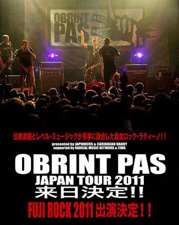 Cartel de la gira del grupo valenciano Obrint Pas al Japón.