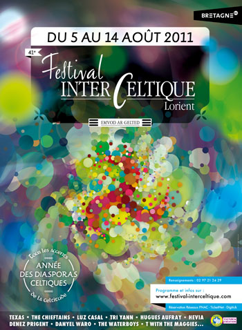 Cartel del 41e Festival Interceltique de Lorient.