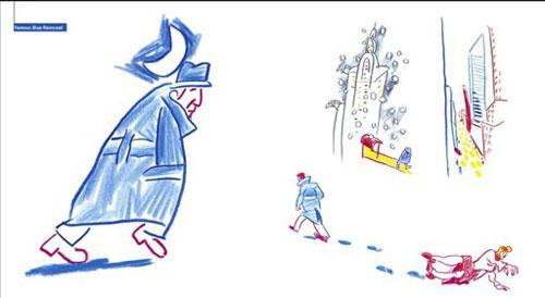 Uno de los dibujos de Alfredo González que ilustran el libro «Songs by drawings. Homenaje a Leonard Cohen».