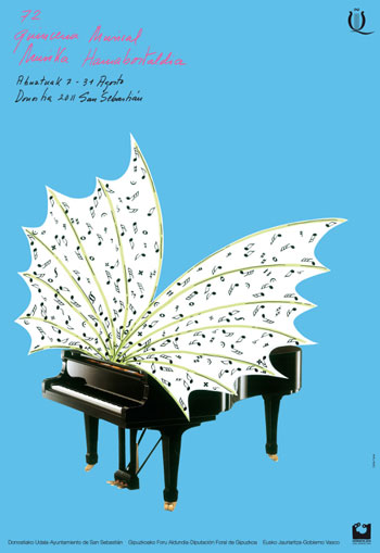 Cartel de la 72 Quincena Musical de San Sebastián.