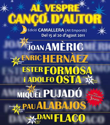 Cartel del 3er Certamen «Al vespre, cançó d'autor».