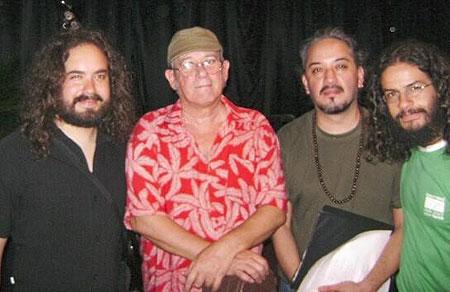 De izquierda a derecha: Christian Benítez, Silvio Rodríguez, Gabo Sequeira y Mario Ramírez.