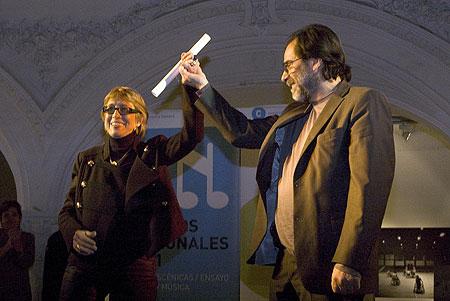 Teresa Parodi recibe el Premio Nacional de las Artes 2011 © Mariana Russo/Secretaría de Cultura de la Nación