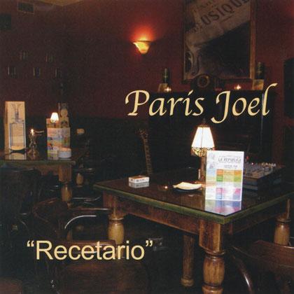 Portada del disco «Recetario» de Paris Joel.