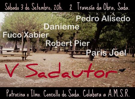 Cartel del  la V Edición del Sadautor.
