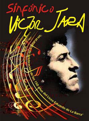 Cartel del concierto «Víctor Jara Sinfónico».