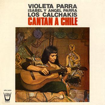 Portada de la primera edición española de ARION (1974) de «Canciones reencontradas en París» de Violeta Parra.