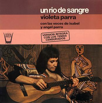 Portada de la tercera edición española de ARION (1978) de «Canciones reencontradas en París» de Violeta Parra.