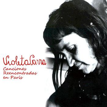 Portada de la edición chilena de Oveja Negra (2010) de «Canciones reencontradas en París» de Violeta Parra.