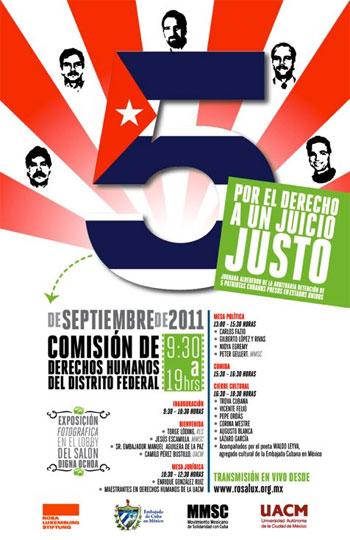 Cartel del concierto «Por el derecho a un juicio justo».