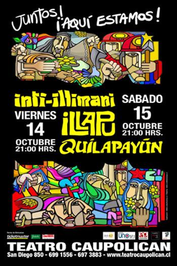 Cartel de los conciertos en el Teatro Caupolicán de la gira «Aquí estamos».
