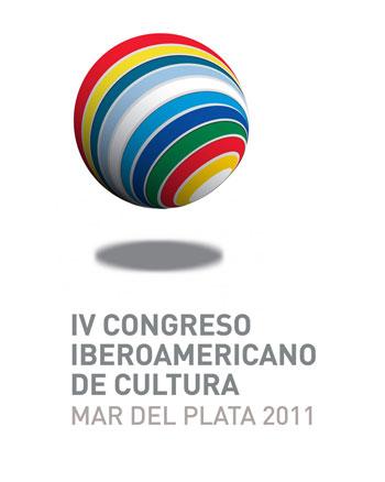 Cartel del IV Congreso Iberoamericano de Cultura Mar Del Plata 2011.
