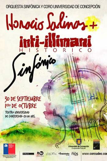Cartel de «Horacio Salinas   Inti-Illimani Histórico Sinfónico».