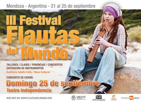Cartel del «III Festival Flautas del Mundo»
