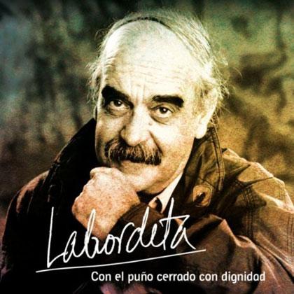 Portada del álbum «Con el puño cerrado con dignidad», de José Antonio Labordeta.
