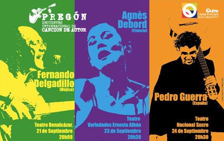 Cartel del Pregón del Encuentro Internacional de Canción de Autor 2011 en Quito.